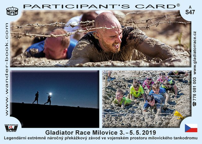 Gladiator race Milovice 3.-5.5. 2019