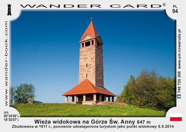 Góra św. Anny wieża widokowa