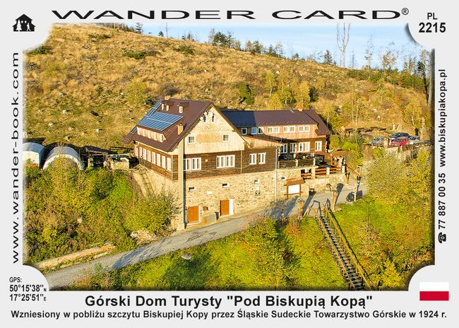 "Górski Dom Turysty ""Pod Biskupią Kopą"""