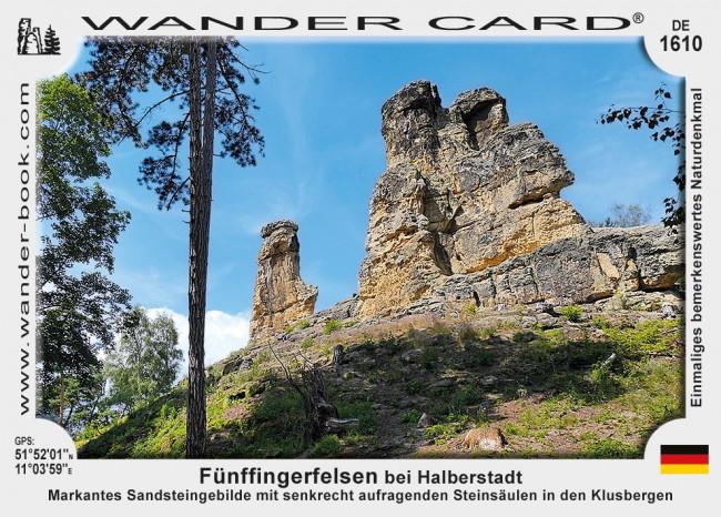 Fünffingerfelsen bei Halberstadt