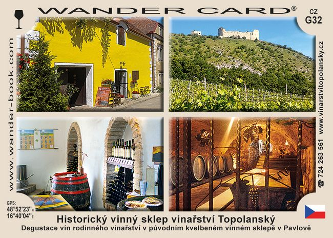 Historický vinný sklep vinařství Topolanský