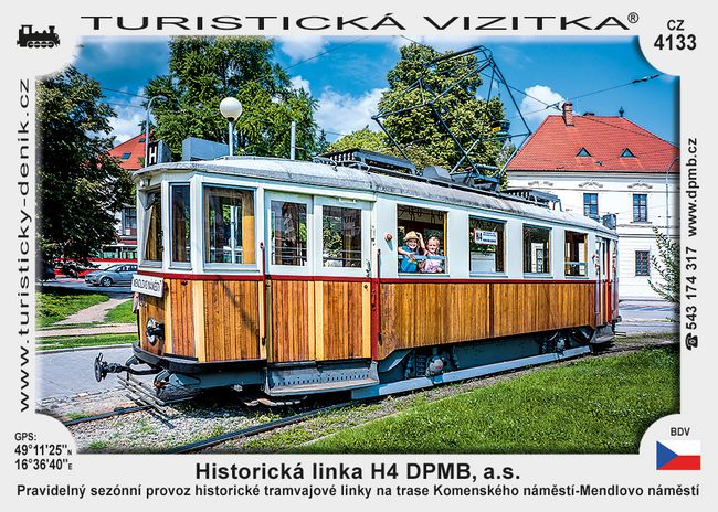 Historická linka H4 DPMB, a.s.
