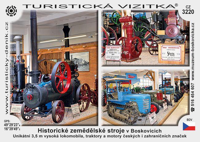 Historické zem. stroje v Boskovicích
