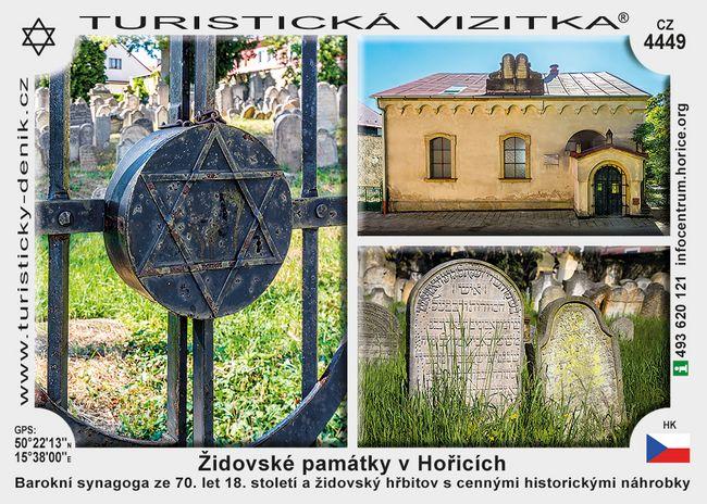 Hořice židovské památky