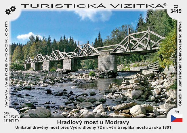 Hradlový most u Modravy
