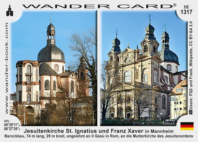 Jesuitenkirche St. Ignatius und Franz Xaver in Mannheim