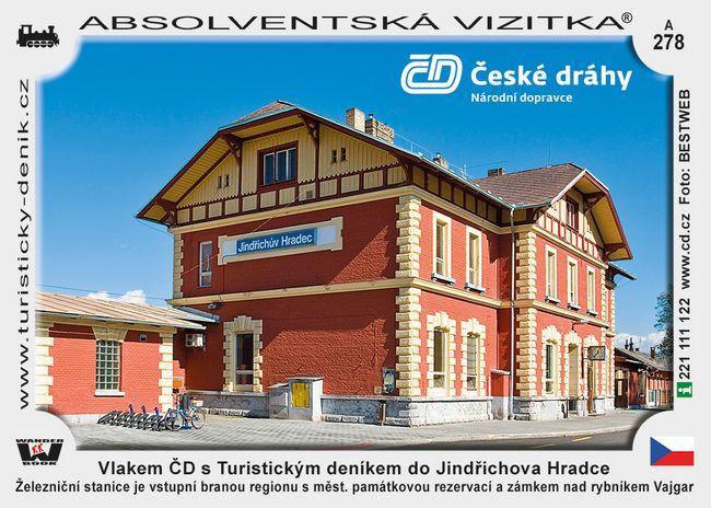 Jindřichův Hradec vlakem ČD