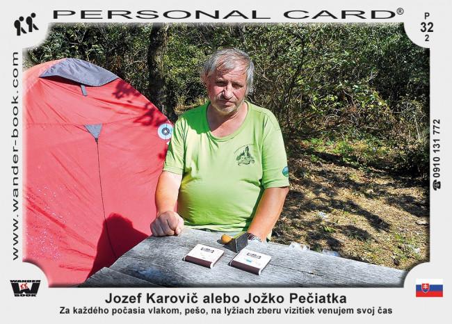 Jozef Karovič alebo Jožko Pečiatka