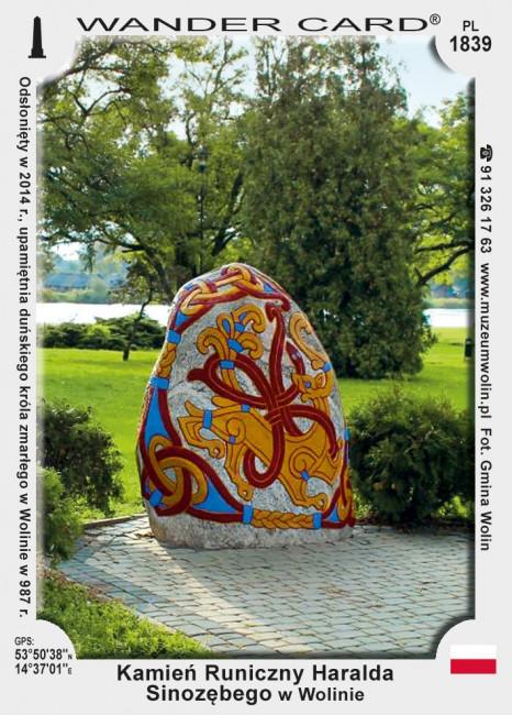 Kamień Runiczny Haralda Sinozębego w Wolinie