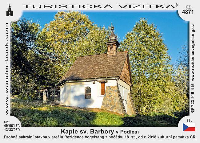 Kaple sv. Barbory v Podlesí