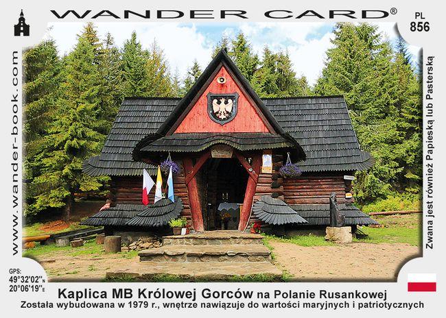 Kaplica MB Królowej Gorców na Polanie Rusankowej