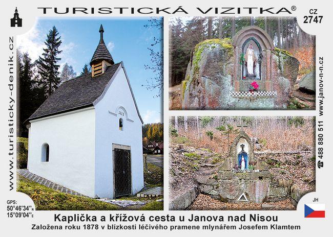 Kaplička a kříž.cesta u Janova n.Nisou