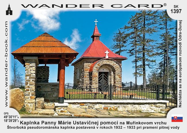 Kaplnka Panny Márie Ustavičnej pomoci na Muřínkovom vrchu