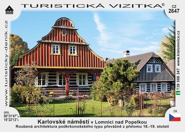 Karlovské nám. v Lomnici nad Popelkou