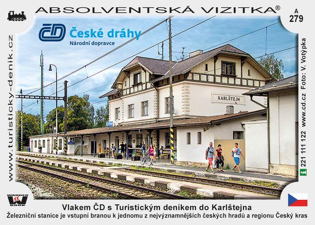 Karlštejn vlakem ČD