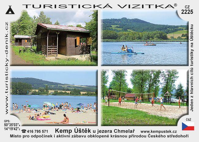 Kemp Úštěk u jezera Chmelař