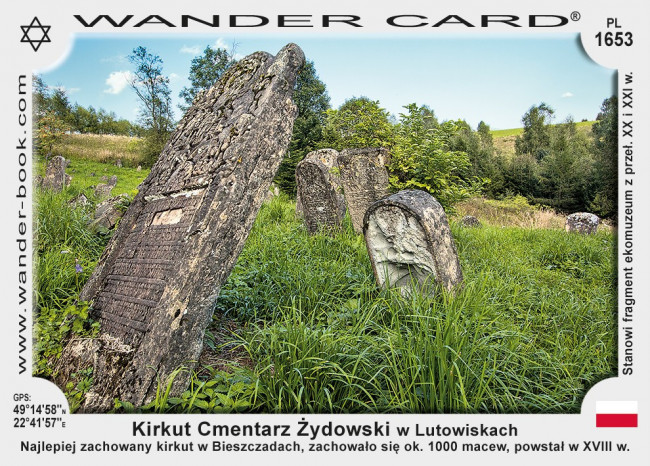 Kirkut Cmentarz Żydowski w Lutowiskach