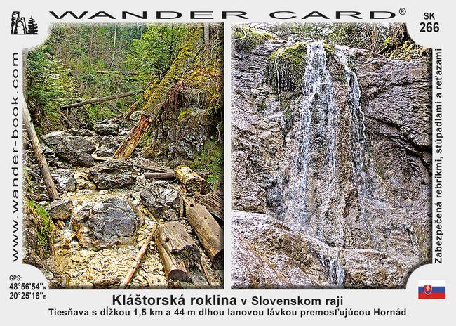 Kláštorská roklina v Slovenskom raji