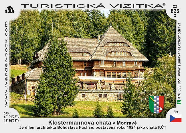 Klostermannova chata v Modravě