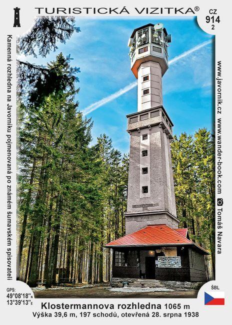 Klostermannova rozhledna na Javorníku