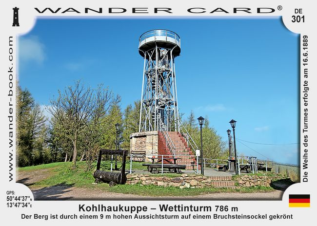 Kohlhaukuppe – Wettinturm