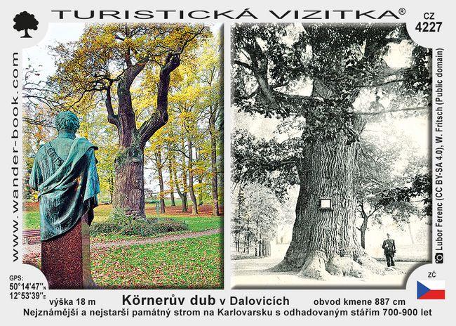 Körnerův dub v Dalovicích