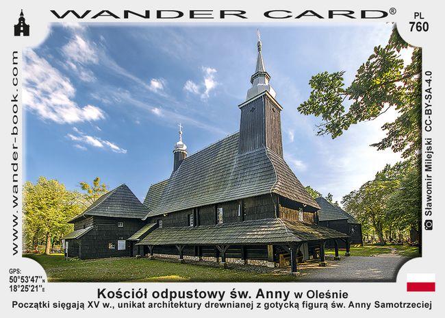 Kościół odpustowy św. Anny w Oleśnie