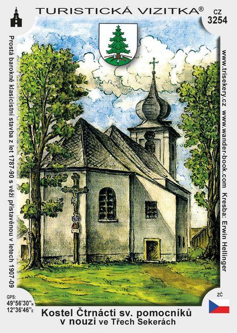Kostel Čtrn. sv. Pomocníků ve Třech Sekerách