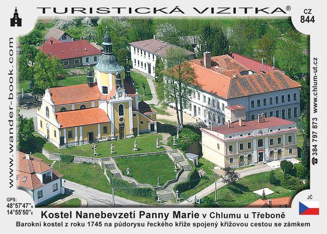 Kostel Naneb. Panny Marie v Chlumu u Tř.