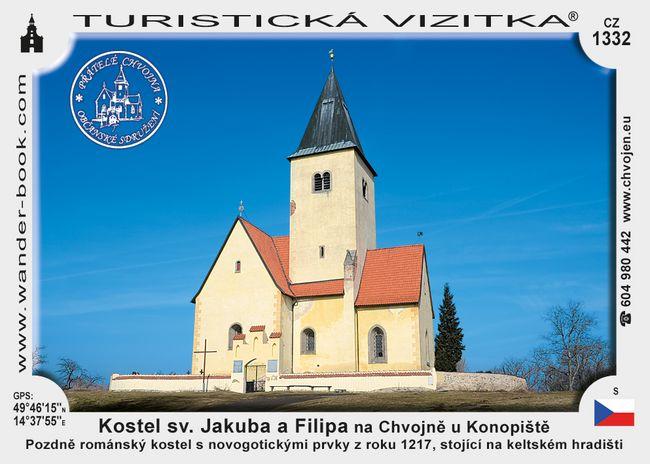 Kostel sv.Jak. a Fil. na Chvojně u Konop.