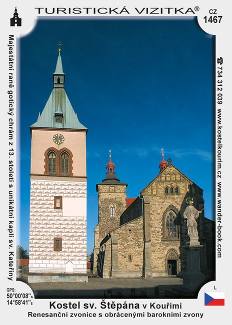 Kostel sv. Štěpána a zvonice v Kouřimi