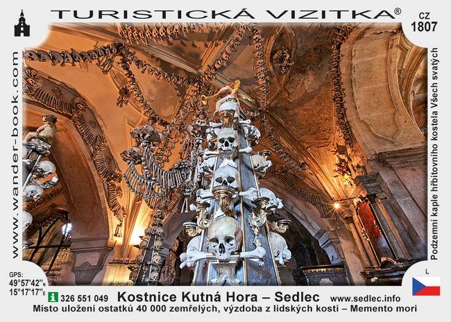 Kostnice Kutná Hora - Sedlec