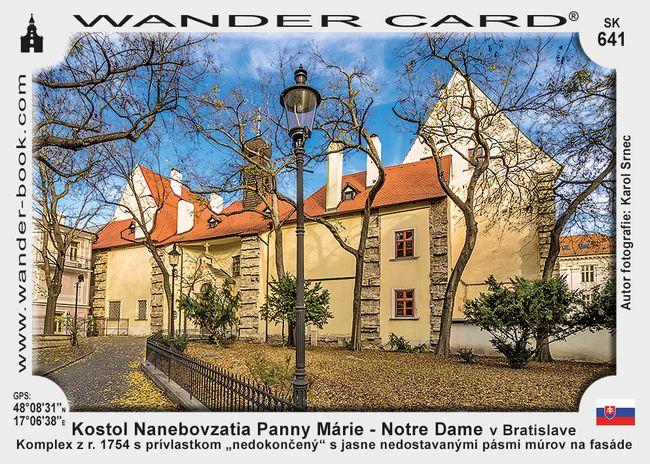 Kostol Nanebovzatia Panny Márie – Notre Dame v Bratislave