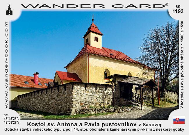 Kostol sv. Antona a Pavla pustovníkov v Sásovej