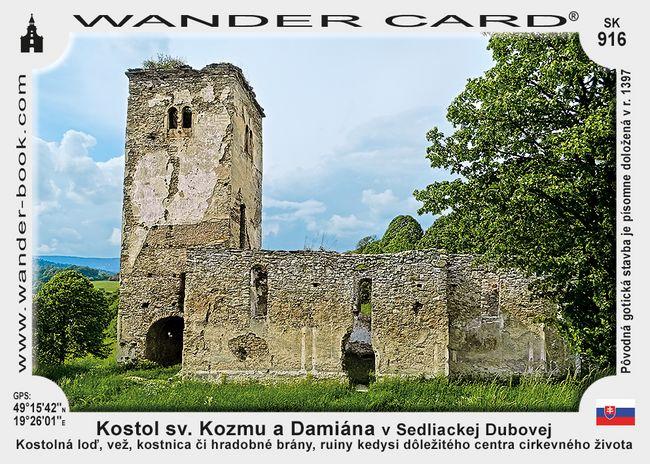 Kostol sv. Kozmu a Damiána v Sedliackej Dubovej