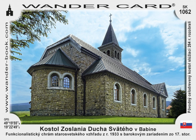 Kostol Zoslania Ducha Svätého v Babíne