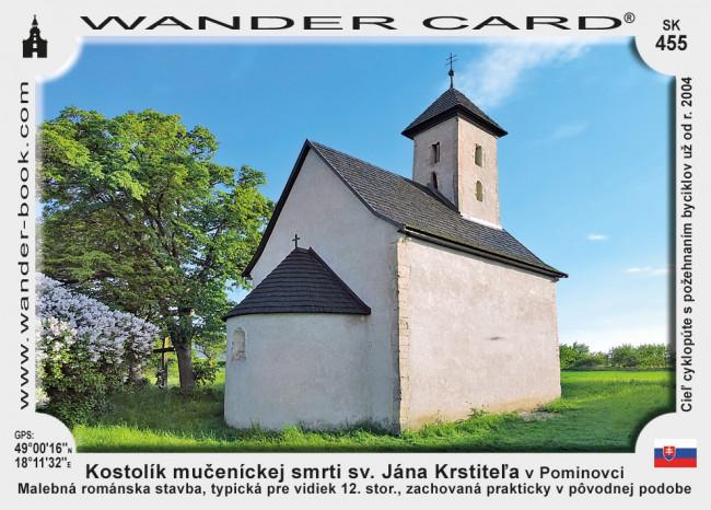 Kostolík mučeníckej smrti sv. Jána Krstiteľa v Pominovci
