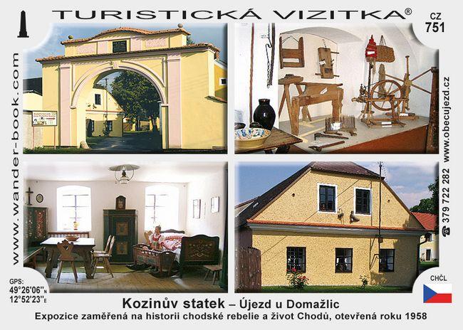 Kozinův statek Újezd u Domažlic
