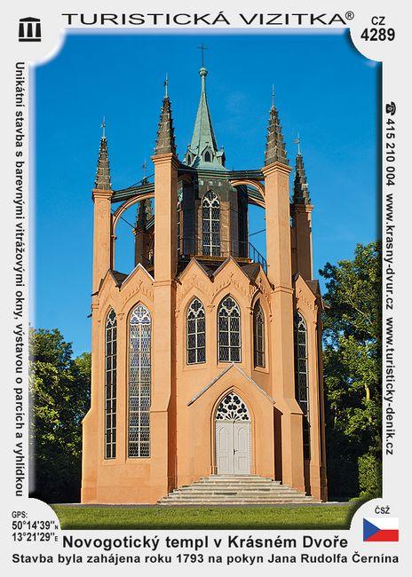 Novogotický templ v Krásném Dvoře