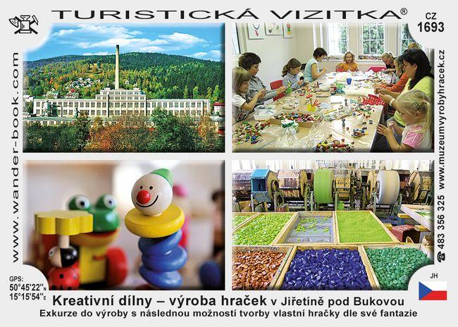 Kreativní dílny - výr. hraček v Jiřetíně p. B.
