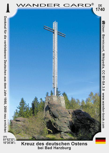 Kreuz des deutschen Ostens bei Bad Harzburg