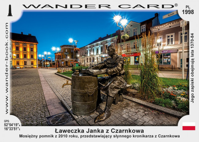 Ławeczka Janka kronikarza w Czarnkowie