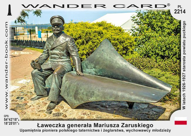 Ławeczka generała Mariusza Zaruskiego
