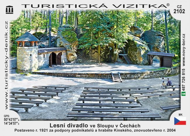Lesní divadlo ve Sloupu v Čechách