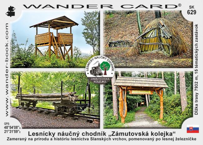 """Lesnícky náučný chodník """"Zámutovská kolejka"""""""