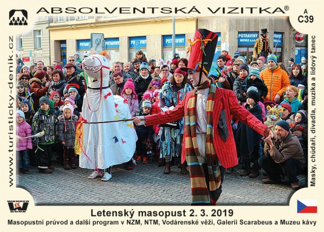 Letenský masopust 2. 3. 2019