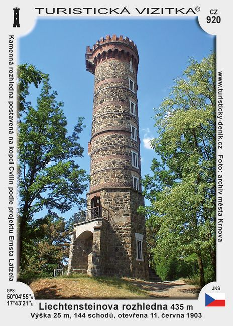 Liechtennsteinova rozhledna (Cvilín)