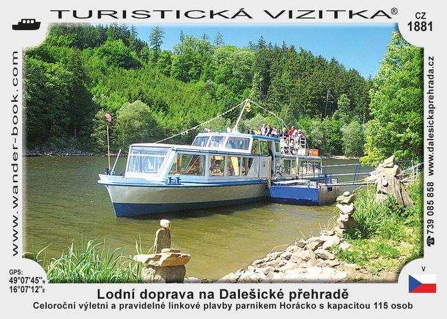 Lodní doprava na Dalešické přehradě