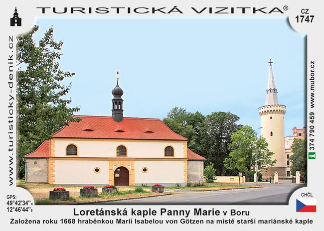 Loretánská kaple Panny Marie v Boru