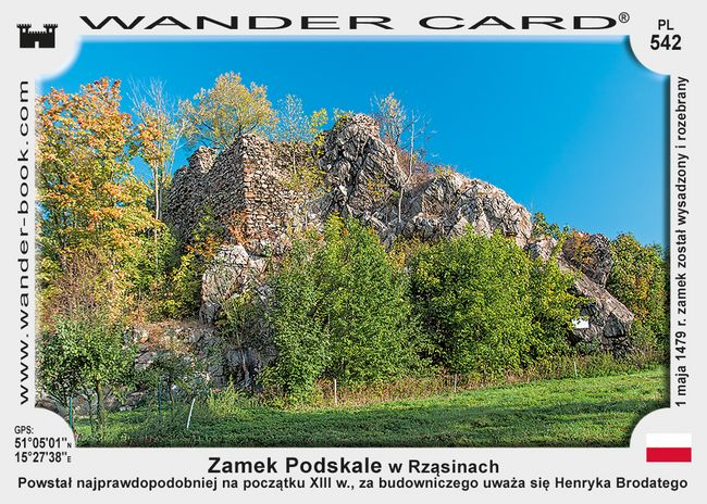 Lwowek Slaski Rzasiny zamek Podskale